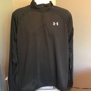 NWT Under Armour Run Heatgear 1/2-Zip LS Shirt XL